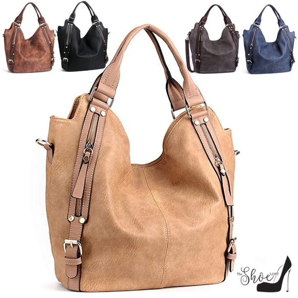 My Bag Lady Online Handbags - Zippered Large Hobo Double Compartment Bag